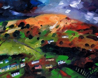 Bwlch, near Crickhowell  limited edition giclee print. Edition of 100