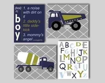 Truck Nursery Art Boys Nursery Construction Truck Art Transportation Nursery Decor Construction Truck Decor Transportation Prints TRCO13