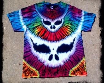 Grateful Dead Tie Dye T shirt - Grateful Dead Double Steal Your Face - Festy Clothes