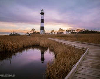 Bodie Island Lighthouse at Sunset (8x10 print)