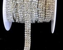 Crystal trim, rhinestone trim ,Rhinestone Applique, Bridal Applique,  Wedding Applique, Sash Applique, bouquet handle, DIY wedding - WB9