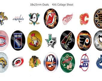 Random NHL teams 18x25mm ovals 1