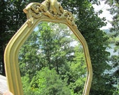 GOLD MIRROR, antique mirror, shabby chic mirror, wood mirror,gold mirror, ornate mirror, mid century,
