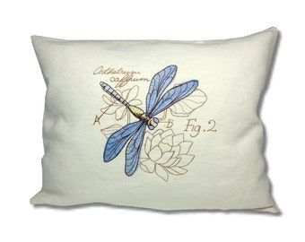 Miniature Menagerie Two-striped Skimmer Cushion Linen