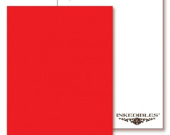 Inkedibles Premium Frosting ChromaSheets: 5 pack Letter Size (Red)