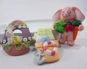 Easter Lapel Pins - Fun Holiday Brooch - Easter Bunny with Vegetables - Easter Egg - Hallmark Cards Pin