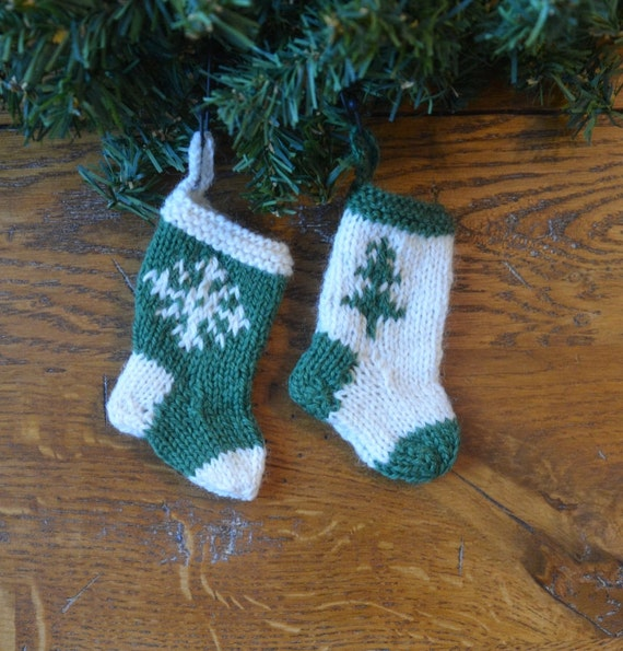 Set Of Knit Christmas Stockings