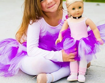 DOLL TUTU...American Girl Doll & Build-a-Bear Tutu Skirt...Doll Clothes...Doll Accessories..Summer Dress
