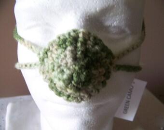 Green Camo Nose Warmer