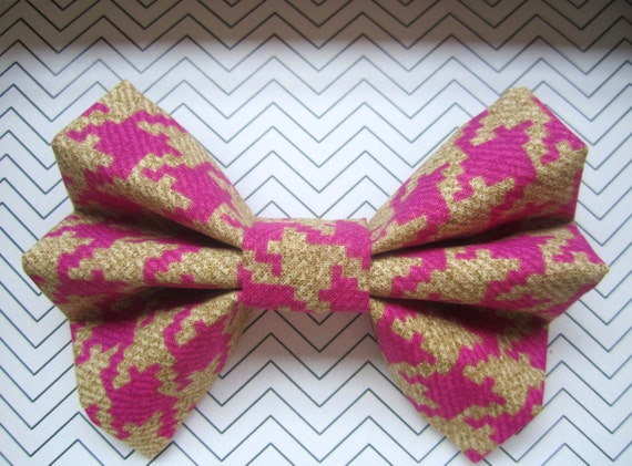 Houndstooth Hair Bow