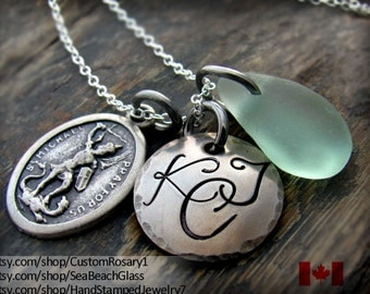 Saint Michael, St Michael, St. Michael Necklace, Custom, Personalized Catholic Jewelry, Gift for Soldier,  STERLING Silver Chain