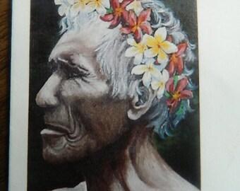"Stamp collecting ""  Faces Polynesians TAHITI"""