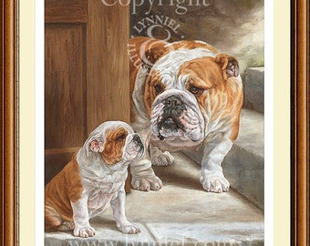BRITISH BULLDOGS limited edition print 'Mother's Pride'