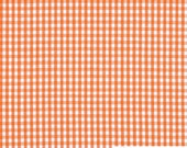 "Orange 1 / 8"" Inch Checkered Gingham Poly Cotton, 60 Inches Wide By The Yard / Roll 5525"