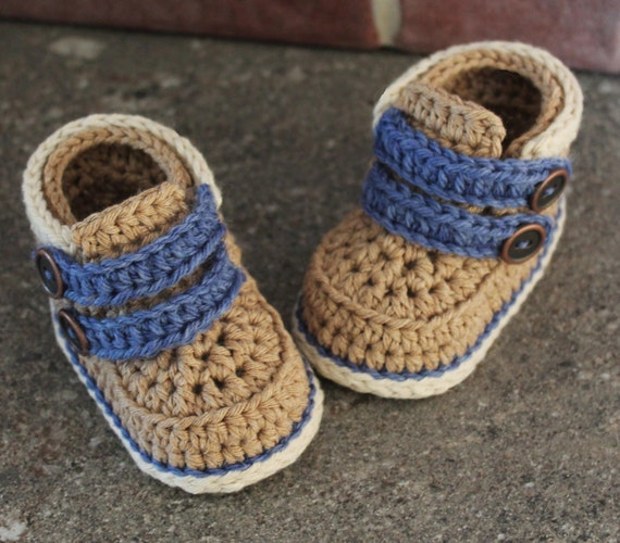 Crochet Baby Booties Pattern Cairo Boots Crochet by ...