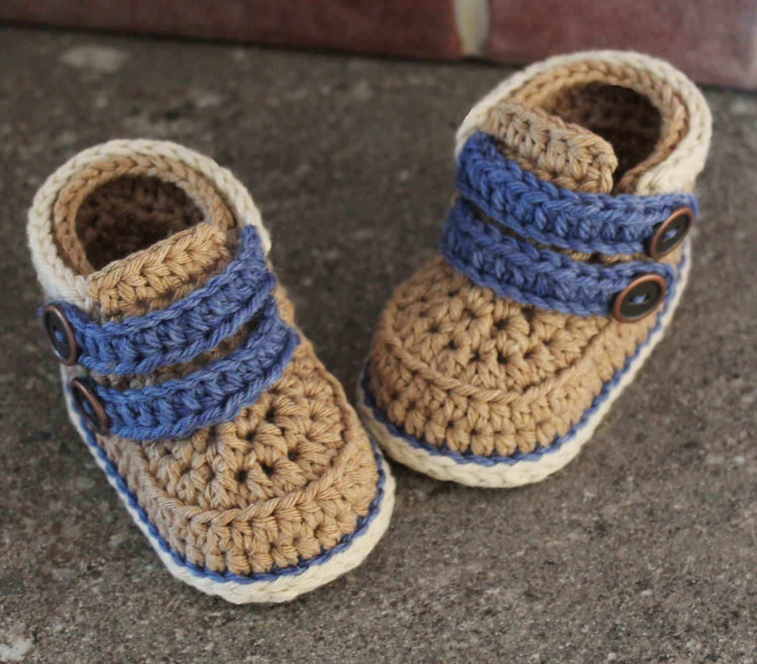 Crochet Baby Booties Pattern Cairo Boots Crochet by Inventorium ...