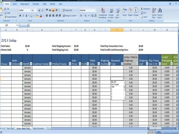 Monthly Sales Tracking Template, Direct Sales Planner, Sales Log