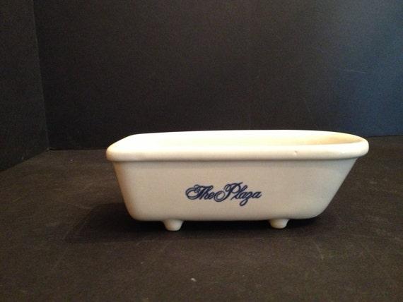 The NYC Plaza Hotel 75th Anniversary Footed Bathtub Soap Dish