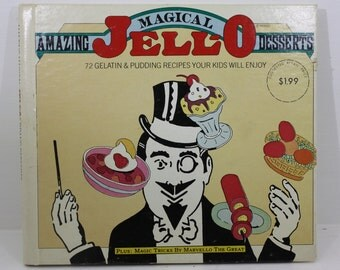 Vintage 1970s Amazing Magical Jell-O Desserts Cookbook - 72 Gelatin and Pudding Recipes Your Kids Will Enjoy