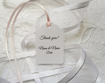 50 Personalized Gift Tags-Favour Tags-Favor Tags-Hang Tags-Customized Gift Tags-Thank You Gift Tags-Wedding Tags-Shower Tags-Party Tags