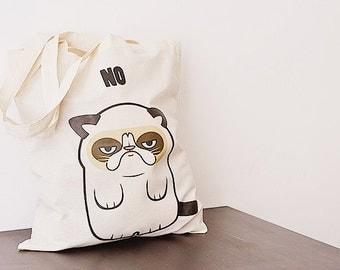 A Grumpy Cat - bag - long handles