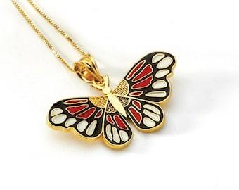 Butterfly, Butterfly jewelry, Butterfly necklace, Butterfly Pendant, 14k butterfly, gold butterfly
