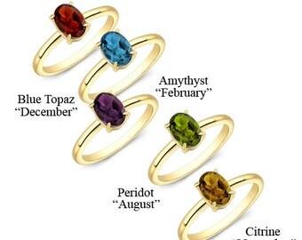 Birthstone, Birthstone rings, birthstone ring, 14k birthstone Ring, Birthstone jewelry, Color stone jewelry, dainty jewelry