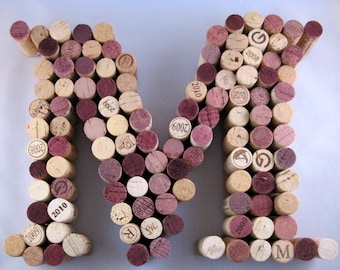 Letter M - Recycled Cork Letter