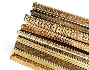 set of 10 vintage metal 8x10 frames rustic gold brass table numbers bulk ornate