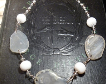 White Agate Necklace.