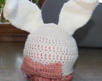 Crochet Baby Easter Bunny Hat