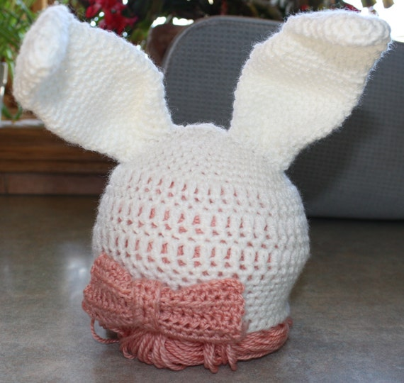 Crochet Baby Easter Hat Patterns : Crochet Baby Easter Bunny Hat