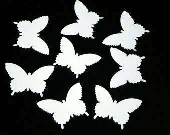 "25 Large Paper Butterfly die cuts, ""White"" colors, scrapbook embellishments, Martha Stewart"