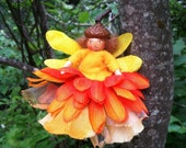 Orange and yellow flower fairy