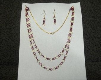 Tri colored Chain necklace