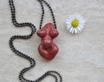 Mini Venus Goddess - Pregnant Raspberry Red
