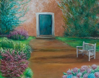 "Entrance to Tuscany Cottage, 16 x 12"" Fine Art Reproduction Museum-Quality Print (Giclee) of Original Painting"