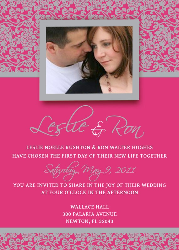 Wedding Invitation Template Kit Photoshop By ScriptureWallArt