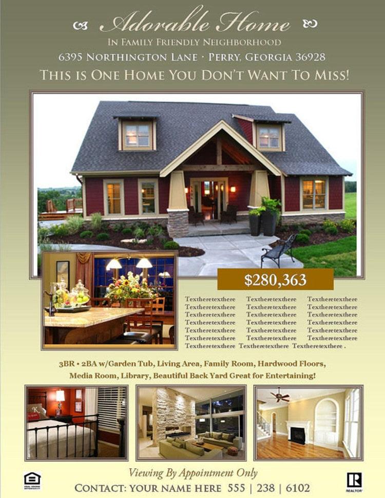 real estate flyer template microsoft by scripturewallart