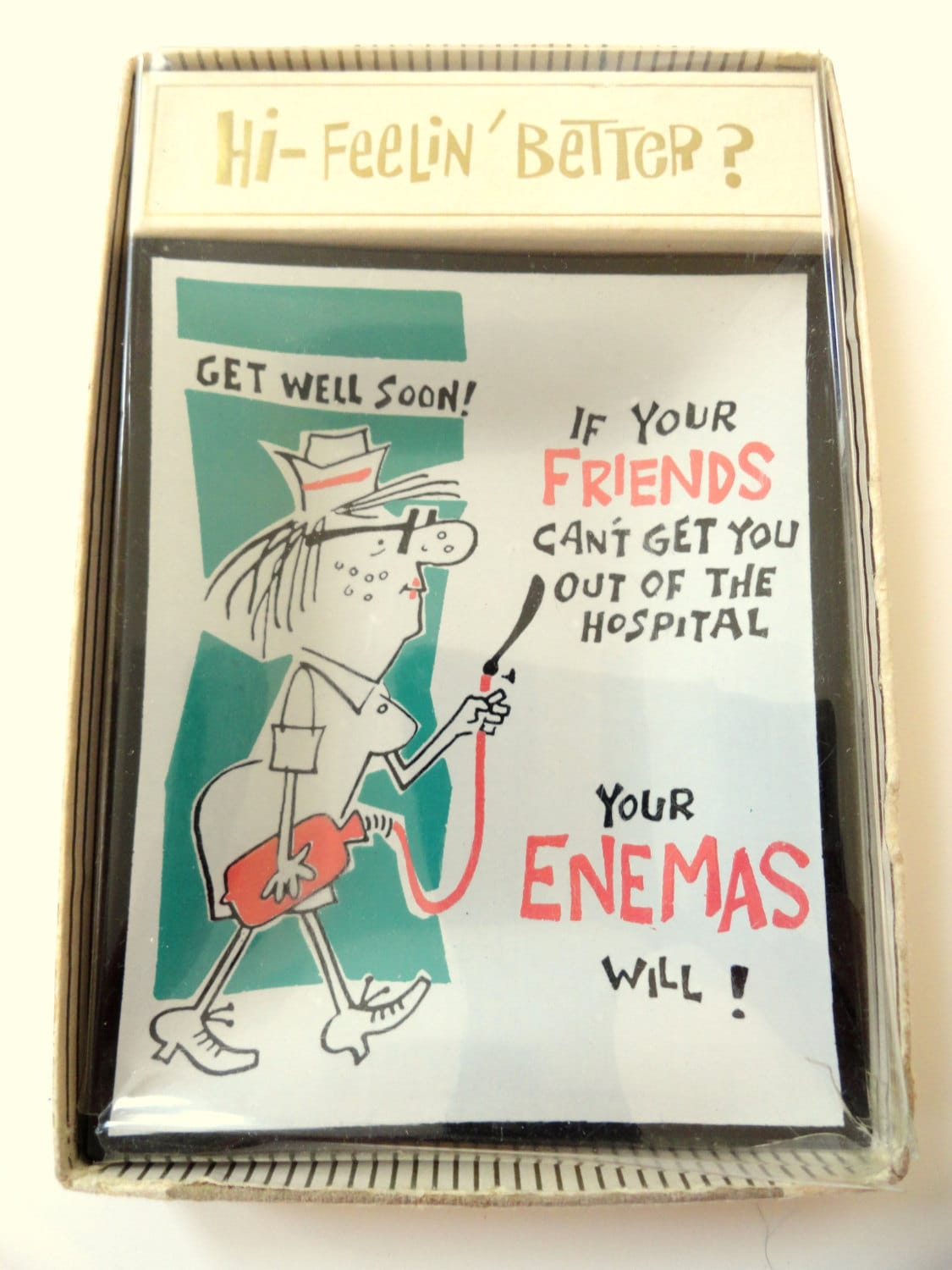 Funny get well soon gag gift nurse friends and enemas dish for Unusual get well gifts