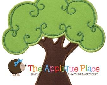 Tree Machine Embroidery Applique Design