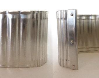 """Argentium silver corrugated 2"""" tall cuff."""