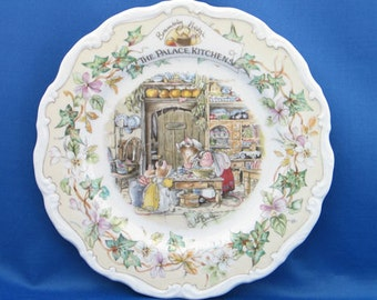 Royal Doulton Brambly Hedge The Palace Kitchens Plate, Part Of The Secret Staircase Series, By Jill Barklem
