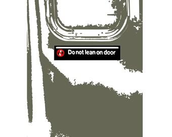 PRINT of Subway Train Door - 8x10 PRINT