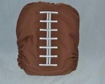Anniversary Sale Football/football laces/os pocket diaper/reusable/eco friendly