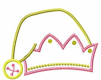 Girl Elf Hat Machine Embroidery Design