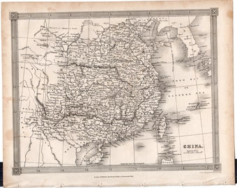 1843 Vintage Map of China #00139