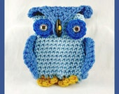 Blue Owl Iphone Case, Owl Phone Case, Owl Android Case, Owl Samsung Case