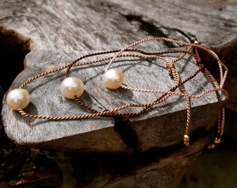 Pearl friendship bracelets