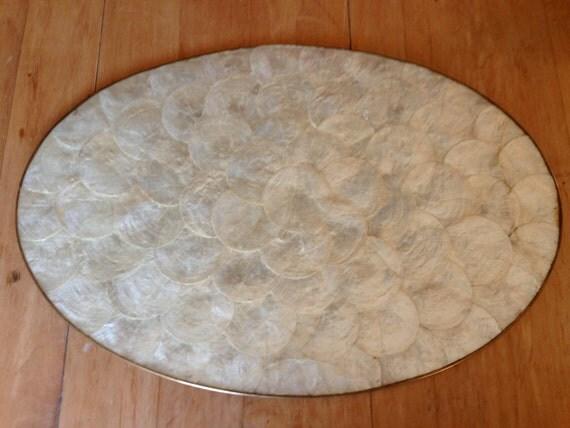 Vintage Capiz Shell Placemat Set Oval Set Of 4